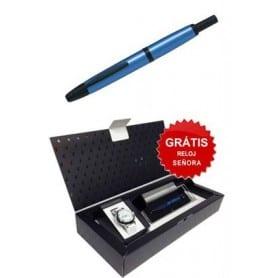 Pluma Pilot Capless Trend Azul y Rodio + Reloj de Regalo
