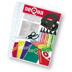 Caja 100 fundas multitaladro Dequa Folio - 215 x 315 mm