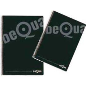 Cuaderno Folio Tapa Dura Negro Dequa
