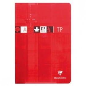 Cuaderno A4 Clairefontaine Seyés Rojo