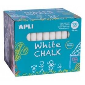 Tizas blancas Apli Caja 100 ud.