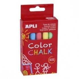 Tizas Apli colores surtidos Caja 10 ud.