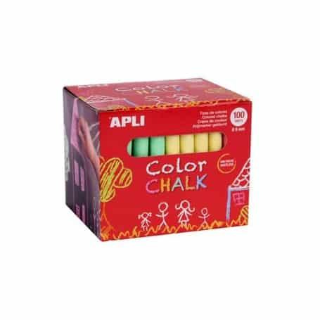 Tizas Apli colores surtidos Caja 100 ud.
