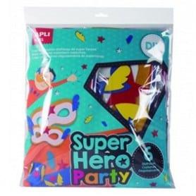 Party 6 Disfraces de Super Heroe