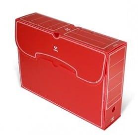 Archivo Definitivo Grafoplas folio plástico rojo