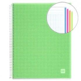 Cuaderno A4 polipropileno Miquelrius 140 hojas verde