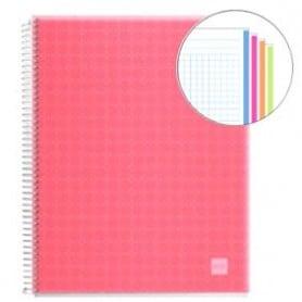 Cuaderno A4 polipropileno Miquelrius 140 hojas rojo