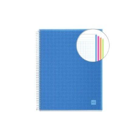 Cuaderno A4 polipropileno Miquelrius 140 hojas azul