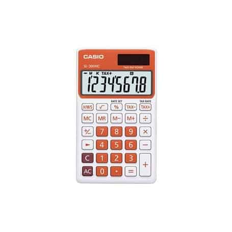Calculadora Casio SL-300NC naranja