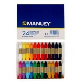 Caja 24 colores cera Manley