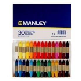 Caja 30 colores cera Manley