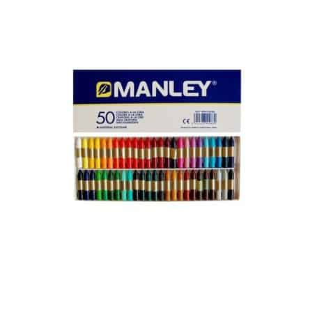 Caja 50 colores cera Manley