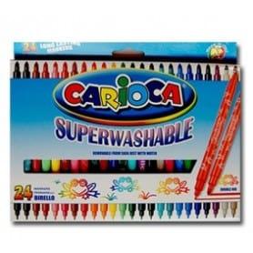 Rotuladores Carioca SuperLavables caja 24 unid