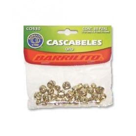 Cascabeles 30 unidades oro