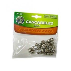 Cascabeles 30 unidades plata