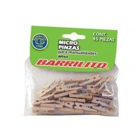 Mini Pinza madera color natural 45 piezas