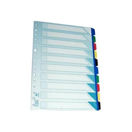 Separador grafoplas PVC 10 pestañas
