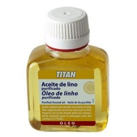 Aceite de lino purificado Titán 100 ml