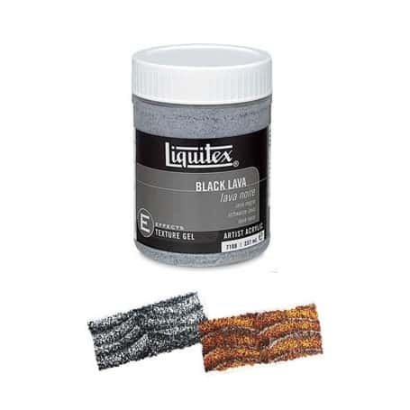 Liquitex Gel 237 ml Textura Lava negra