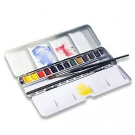 Caja metálica Winsor and Newton acuarela Artists Black Box