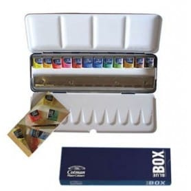 Caja metálica Winsor and Newton acuarela Cotman Blue Box