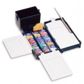 Caja plástico Winsor and Newton acuarela Cotman Field Box