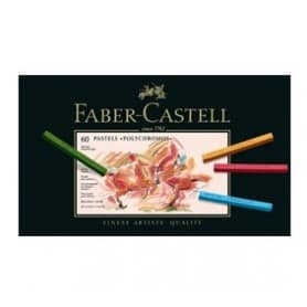 Caja 60 tizas polychromos pastel Faber-Castell