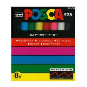 Set Posca 8 colores PC-3M