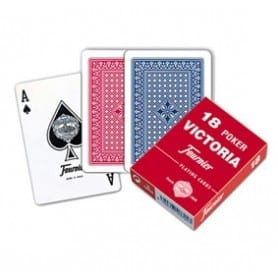 Naipes Fournier 18 Poker rojo