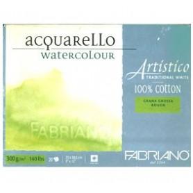 Bloc acuarela Fabriano Grano Grueso 35,5 x 51 cm 300 gr/m2