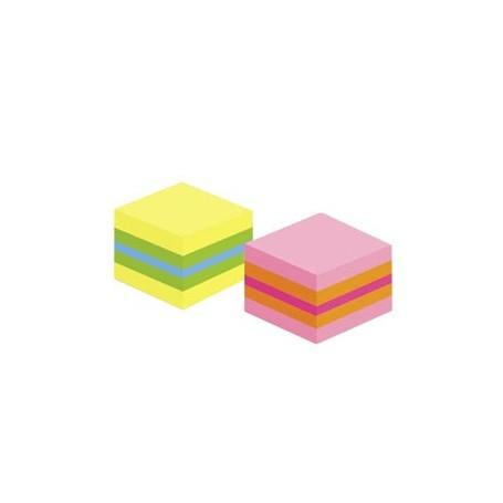 Minicubo Post it amarillo - vede - azul