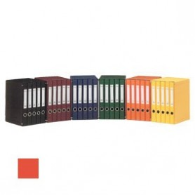 Módulo cinco archivadores naranja