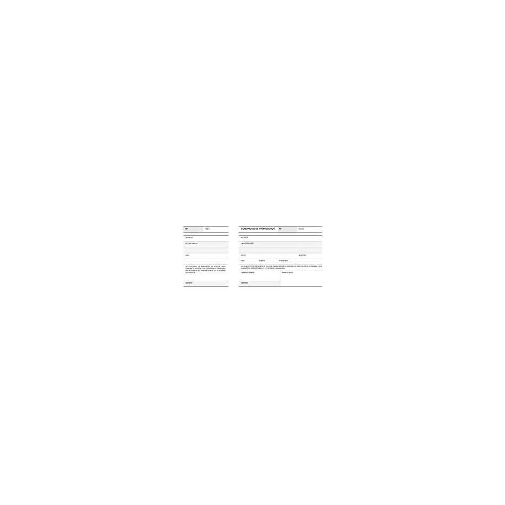 Talonario Apli de Recibo Comunidad de Propietarios Con matriz