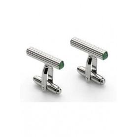 Gemelos clíndricos Graf Von Faber-Castell Bañados platino con jade