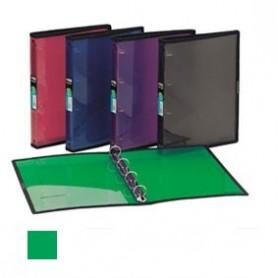 Carpeta plástico translúcida verde