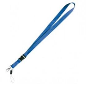 Cordón Lanyard Azul 100 Uds