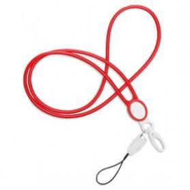 Cordón Lanyard Rojo 100 Uds
