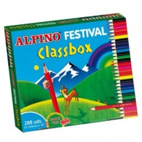 Caja `SP` pinturas Alpino 288 colores