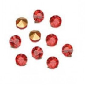 Decoré piedras de strás 1,7 mm Light siam ruby