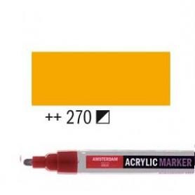 Rotulador Acrílico Amsterdam punta M Amarillo Azo oscuro