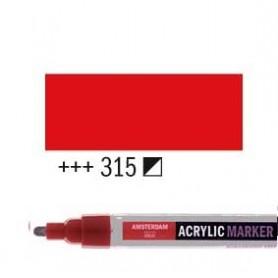 Rotulador Acrílico Amsterdam punta M Rojo Pyrrole