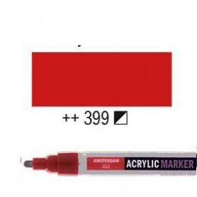 Rotulador Acrílico Amsterdam punta M Rojo Naftol oscuro