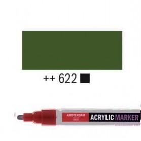 Rotulador Acrílico Amsterdam punta M Verde oliva oscuro