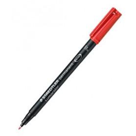 Rotulador Lumocolor Staedtler punta fina rojo