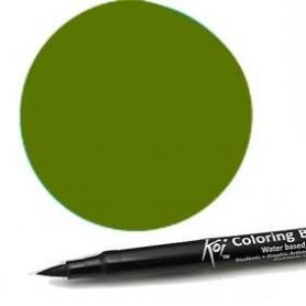 Rotulador punta pincel Koi Sakura Verde Sapo