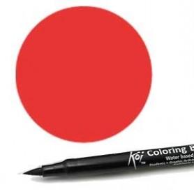 Rotulador punta pincel Koi Sakura Rojo