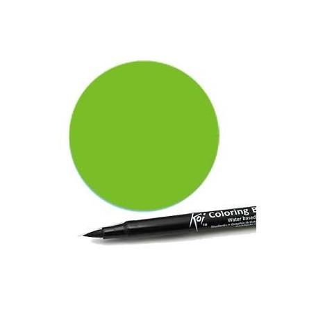 Rotulador punta pincel Koi Sakura Verde Esmeralda