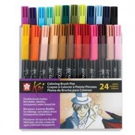 Rotulador punta pincel Koi Sakura Set 24 colores