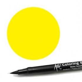 Rotulador punta pincel Koi Sakura Amarillo