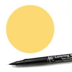 Rotulador punta pincel Koi Sakura Amarillo Intenso